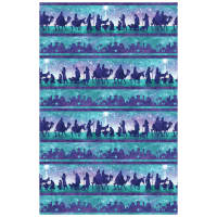 "Joy To The World Scenic 24"" Panel Teal"