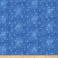 O Christmas Tree Small Snowflakes Blue