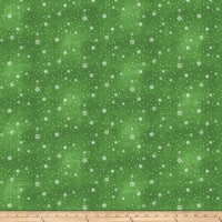 O Christmas Tree Small Snowflakes Green