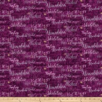 Elegantly Frightful Words Purple