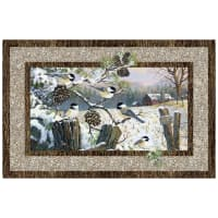 "Winter Chickadee 28"" Panel Beige"