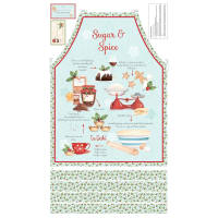 "Sugar & Spice Apron 43"" Panel Blue"