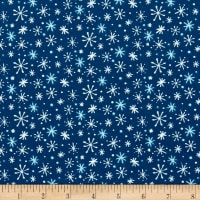 Yeti For Winter Snowflakes Flannel Navy