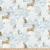 Enchanted Forest Animals Allover Pale Blue