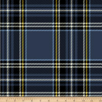 Baum Winter Fleece Plaid Navy