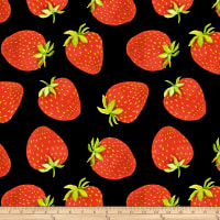 Baum Winter Fleece Strawberries Black