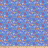 Northcott Alphabet Soup ABC Letters Blue
