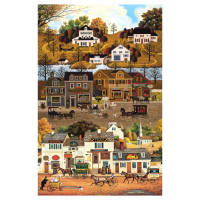 "Autumn Village 24"" Panel Beige"