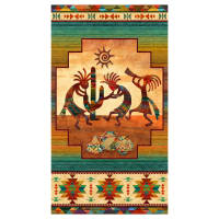"Stonehenge Sun Valley Tribe 27"" Panel Beige"