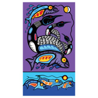 "Healing Waters 43"" Panel Purple"