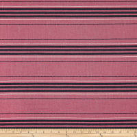 Upholstery Stripe Embroidered Canvas Pink