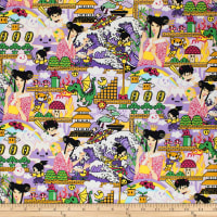 Trans-Pacific Textiles Tomodachi Super Anime World Lavender