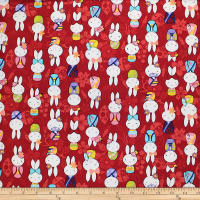 Trans-Pacific Textiles Anime Usagi Bunny Red