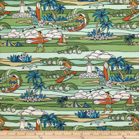 Trans-Pacific Textiles Surftown Stained Glass Sets Green