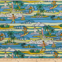 Trans-Pacific Textiles Surftown Stained Glass Sets Turquoise