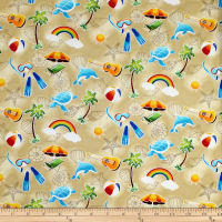 Trans-Pacific Textiles Keiki Fun in the Sun Beige