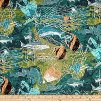Trans-Pacific Textiles Ancient Ways Thrownet Teal