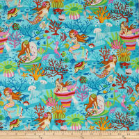 Trans-Pacific Textiles Anime Under the Sea Turquoise