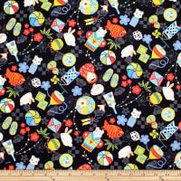 Trans-Pacific Textiles Anime Child Memories Black