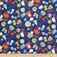 Trans-Pacific Textiles Anime Child Memories Blue