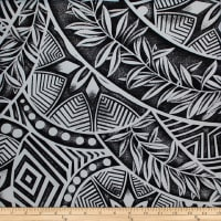 Trans-Pacific Textiles Polynesian Tattoo New Black