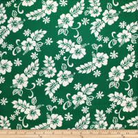 Trans-Pacific Textiles Hibiscus Mini Pareau Green