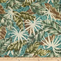 Trans-Pacific Textiles Fall Leaves Aqua