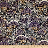 Trans-Pacific Textiles Asian Bonsai Purple