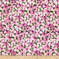 Trans-Pacific Textiles Tropical Plumeria Pink