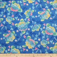 Trans-Pacific Textiles Asian Bouquet Blue