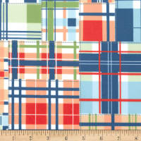Michael Miller Minky Dig It Madras Patch Multi