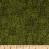 QT Fabrics Basics Quilting Temptations Curly Cue Blender Olive