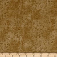 QT Fabrics Basics Quilting Temptations Curly Cue Blender Toffee