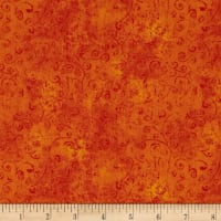 QT Fabrics Basics Quilting Temptations Curly Cue Blender Carrot