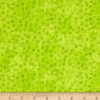 QT Fabrics Basics Quilting Temptations Curly Cue Blender Lime