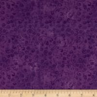 QT Fabrics Basics Quilting Temptations Curly Cue Blender Pansy
