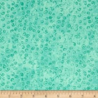 QT Fabrics Basics Quilting Temptations Curly Cue Blender Aqua