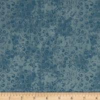 QT Fabrics Basics Quilting Temptations Curly Cue Blender Chambray