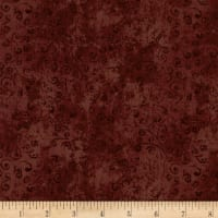 QT Fabrics Basics Quilting Temptations Curly Cue Blender Marsala