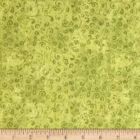 QT Fabrics Basics Quilting Temptations Curly Cue Blender Avocado