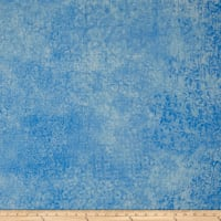QT Fabrics Basics Scrollscape Blender Powder Blue
