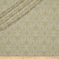 QT Fabrics Basics Luminous Lace Medallion Blender Metallic Cream