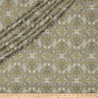 QT Fabrics Basics Luminous Lace Medallion Blender Metallic Cream/Black