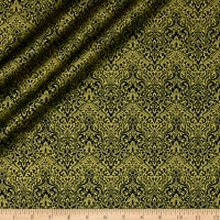 QT Fabrics Basics Luminous Lace Chevron Brocade Blender Metallic Forest