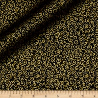 Qt Fabrics Basics Metals Scribble Blender Metallic Black/Copper