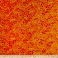 QT Fabrics Basics Ombre Scroll Blender Tangerine
