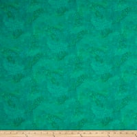 QT Fabrics Basics Ombre Scroll Blender Jade
