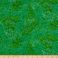 QT Fabrics Basics Ombre Scroll Blender Spring Green