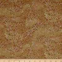 QT Fabrics Basics Ombre Scroll Blender Camel