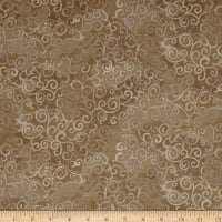 QT Fabrics Basics Ombre Scroll Blender Taupe